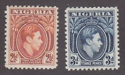 Nigeria,1938, 2.5d orange, 3d blue, SG52b-53, Sc 57-58, mint never hinged, MNH