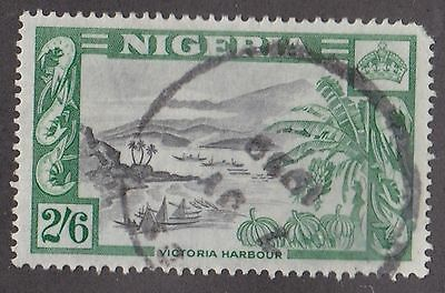 Nigeria, 1953, 2/6 green and black, SG77, Sc88, used