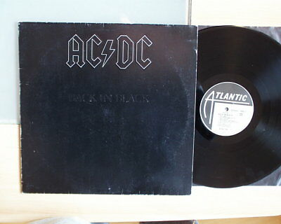 AC DC   Back in Black    LP  VG   Prägecover