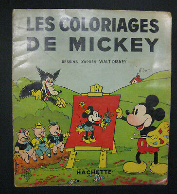 Les coloriages de Mickey Walt Disney Ed. Hachette RARETE 1936 BE