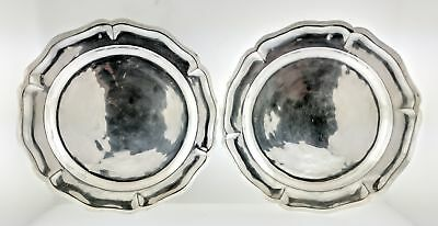 Set Of 2 Cayetano Buitron Mexican Spanish Colonial Sterling Silver Plates 10""