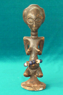Vintage African? Fertility God Female Tribal Art Wood Figure