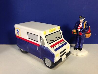 Dept 56 Snow Village SPECIAL DELIVERY Blue Mail Truck & Man w/ box Combine Ship!