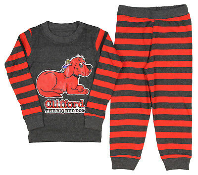 Intimo Little Boys' Clifford The Big Red Dog Book Cover Pajama Set