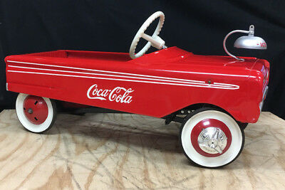 Vintage Metal Coca Cola Pedal Car Red White Antique Sold As IS Broken pedals