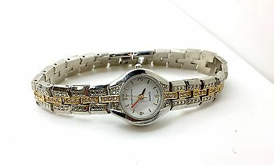 Charter Club Stainless Steel Gold Color Two Tone Watch Quartz Movement Ladies