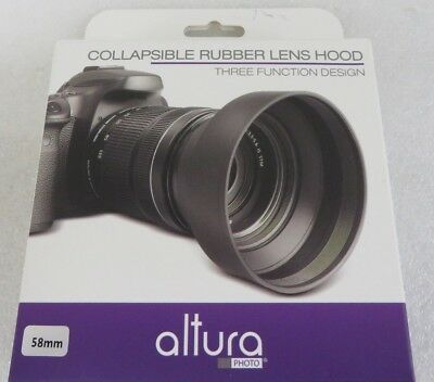 Altura 58mm 3 way collapsible rubber lens hood