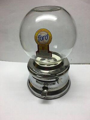Ford Gumball Machine With Glass Globe