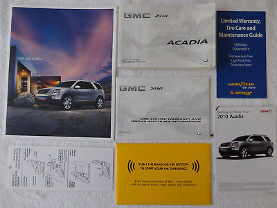 2010 GMC Acadia Owner's Manual Sales Brochure Quick Reference XM Warranty Guides