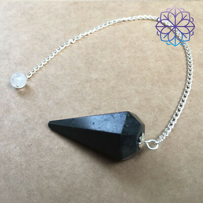 Pendulum | Black Tourmaline Faceted Pendulum