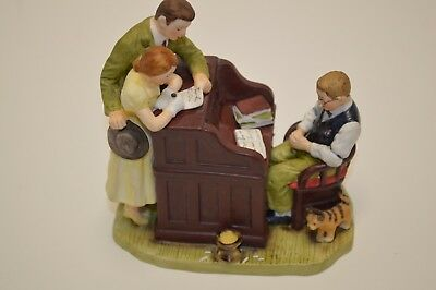 Norman Rockwell The Marriage License 1982 Figurine Gift World Of Gorham
