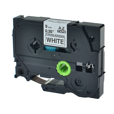 """1PK TZe-S221 TZ-S221 Black On White Label Tape For Brother P-Touch ST-5 9mm 3/8"""""""