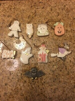 LENOX HALLOWEEN Trick or Treat Ornaments USED 9