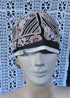 Flapper 1920'S Rich Hand Embroidered Cloche Hat 4 Dress As Found