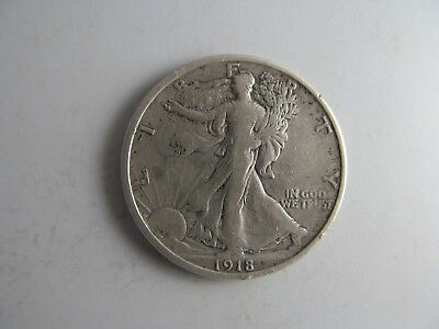 1918 Walking Liberty Half Dollar -- AWESOME EARLY SERIES COIN!