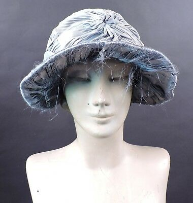 Antique Edwardian Teens Straw Hat 4 Dress W Silk Details As Found