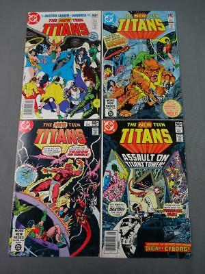 New Teen Titans Early Lot Of Four #'s 4-7 VF George Perez DC Comics 1980