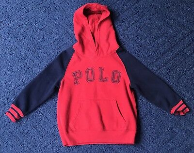 Polo Ralph Lauren Big Logo Spell Out Boys Pullover Hoodie Size 4/4T