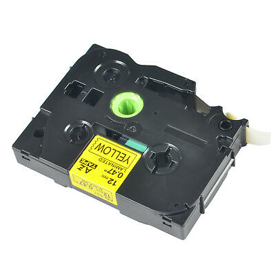 1PK TZ-631 TZe-631 Black on Yellow Label Tape For Brother P-Touch PT-520 12mmx8m
