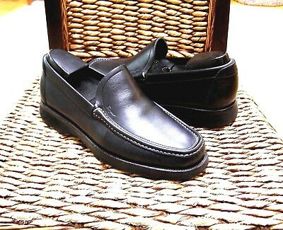 Salvatore Ferragamo Mens Black Leather Stitched toe Driving Shoes Size 7 EEE