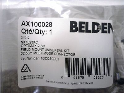 Belden AX100028 Optimax Multimode Connector 62.5um SC NX7L23KC-Lot of 5-Nice!$!