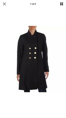 NWT TAHARI NAVY WOOL MILITARY COAT Size XL $429