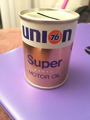 Vintage Advertising Coin Bank -UNION 76 Super Motor Oil
