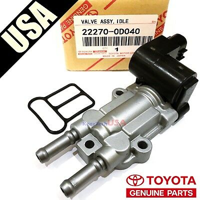 Genuine Denso TOYOTA Idle Air Control Valve IAC Valve with Gasket 22270-0D040