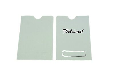 """50 Hotel Room Key Card Holder Sleeve with WELCOME sign, 3.5x2.5 (3-1/2""""x2-1/2"""")"""
