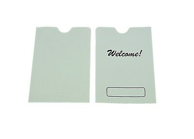 "500 Hotel Room Key Card Holder Sleeve with WELCOME sign, 3.5x2.5 (3-1/2""x2-1/2"")"