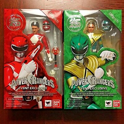 S.H. Figuarts Red & Green POWER RANGERS 2018 SDCC Exclusives IN HAND!
