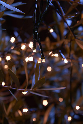 LED Solar String Lights Decorative Warm White Set 100 Outdoor Fairy Lights 12M