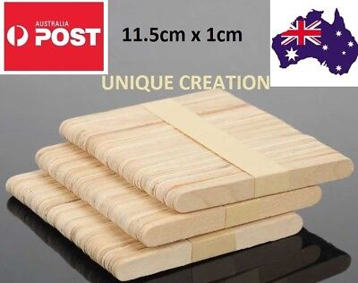 11.5x1cm Wooden Craft Stick Paddle Pop Popsicle Ice Cream Sticks Coffee Stirrers