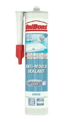 Anti Mould Silicone Sealant By Unibond For Mould Free Kitchen & Bathroom White