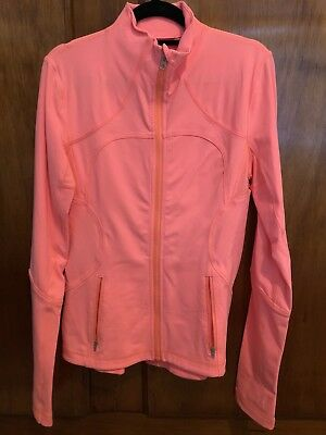 Lululemon Forme Jacket orange as new us 8/ aus 12