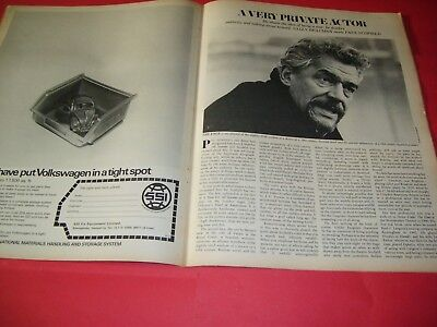 Paul Scofield Lord Devlin Justice & The Law 1970 UK Telegraph Magazine
