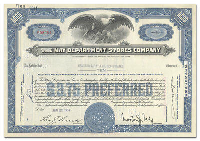 May Department Stores Company Stock Certificate