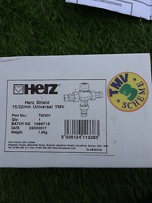 Herz 15/22mm Universal Thermostatic Mixing Valve TMV3 15mm 22mm