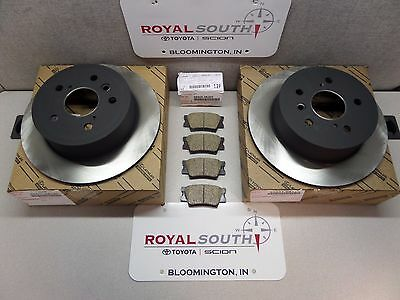Toyota Rav4 Rear Brake Pad /& Rotors Set Kit Genuine OE OEM