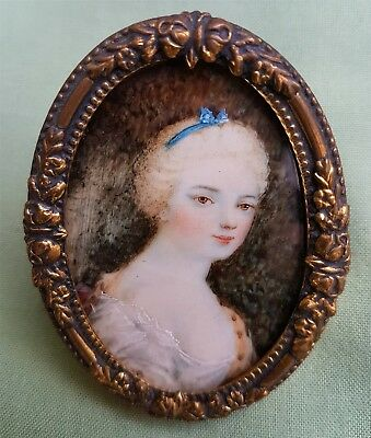 late 18th or early 19th century Miniature Painting of a young lady