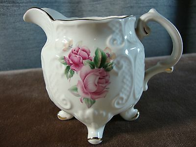 Crown Dorset Footed Creamer Staffordshire England Milk Jug