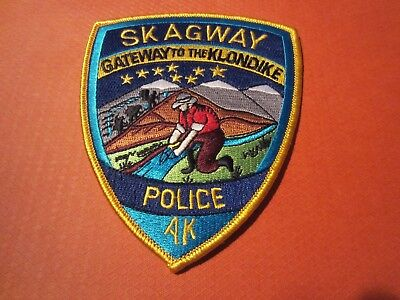 Collectible Alaska Police Patch, Skagway, New