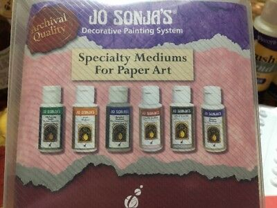 Jo Sonja's Decorative Painting System. Speciality Mediums For Paper Art.  New