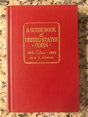 1983 Red Book A Guide Book of United States Coins Yeoman 36th Edition