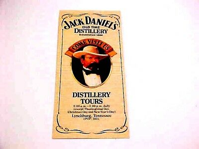 Vtg  JACK  DANIELS  Whiskey  Tennessee  Distillery  Tour  BROCHURE