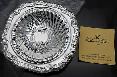 The Northwood Dish - Silver Plated - Vintage Old Sheffield Reproduction
