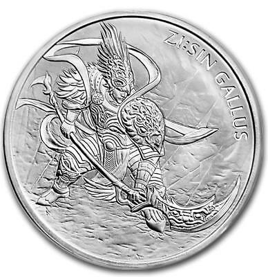 2017 1 Oz South Korea Zi:sin Gallus .999 Silver Bu Unc