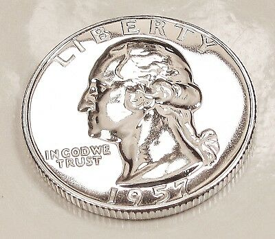 1957  Choice  Proof  Quarter  90%  SILVER  > Blazing  Luster <  #613  16