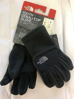 Youth North Face Denali Thermal Etip Black Glove Warm Winter Gift Wrapping Avail