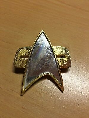 VINTAGE 1994 Star Trek DS9 Deep Space Nine Voyager Comm Badge Pin Hollywood Pins